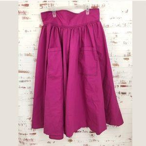 Eshakti Custon Full Skirt Fuchsia Pink Pockets